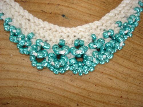 Beaded Knitting Purdy Peas